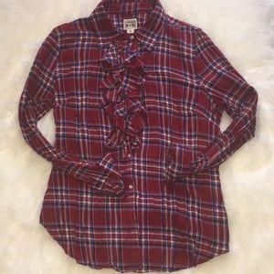 Converse Button Up Plaid Shirt Size XL💕